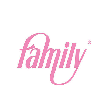 family snack cafe and patisserie branding logo pilides